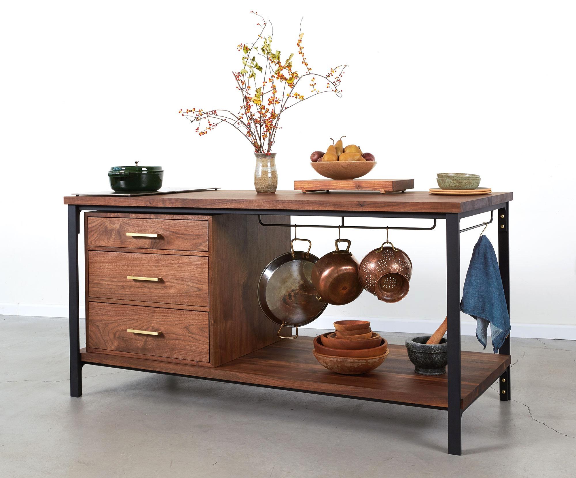 Elegant wooden side table